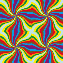Spinning color background, seamless pattern.