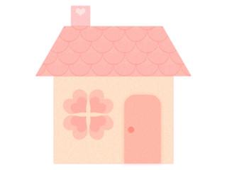 フェルトの家ーピンク