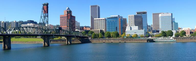 Portland skyline panorama.