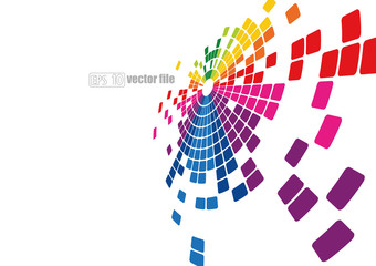 Abstract bright Multicolor background pixel mosaic vector