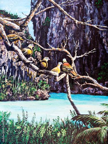 przyroda-ptak-na-drzewie