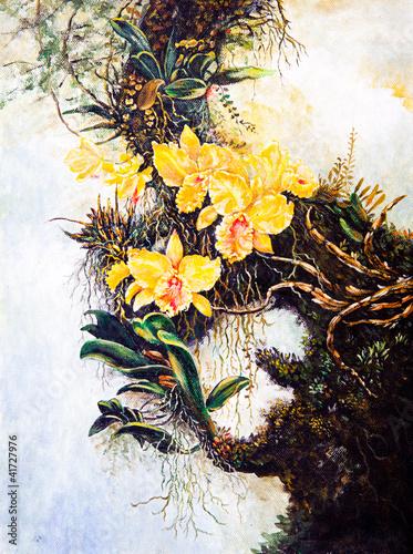 kwiat-na-drzewie-obraz-olejny