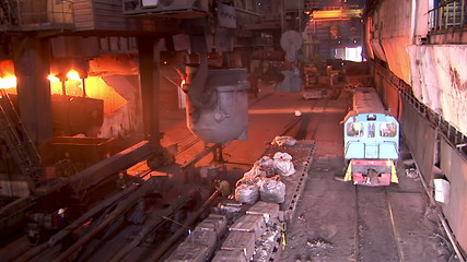 Iron and Steel Works. Converter plant. Smelting of metal.