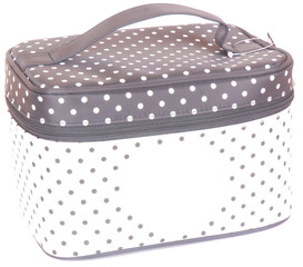 Cosmetic travel case on white
