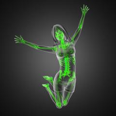 jump woman radiography