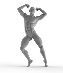 athletic man, statue design