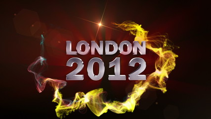 LONDON 2012 Text in Particle (Double Version) - HD1080