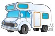 Cartoon camping van