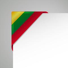 litauen metallic flag corner