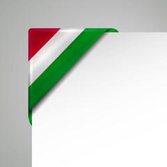 ungarn metallic flag corner