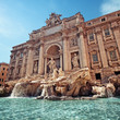Trevi Fountain (Fontana di Trevi) in Rome - Italy