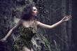 Senasual woman as a part of tree