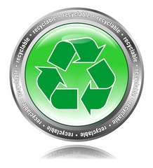 Recyclable - Button grün