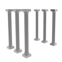 神殿の柱 斜め