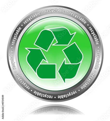 Recyclable - Button grün