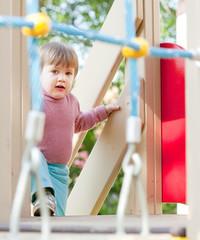 two-year child at playground