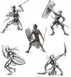 Ancient Gladiator Sketches - 41736501