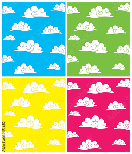 Set of Cloud Backgrounds