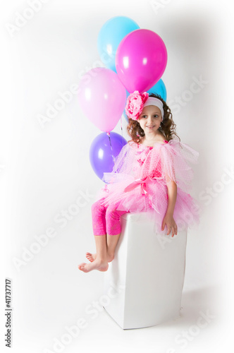 The girl with a balloons