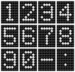 Soccer ball score board number .