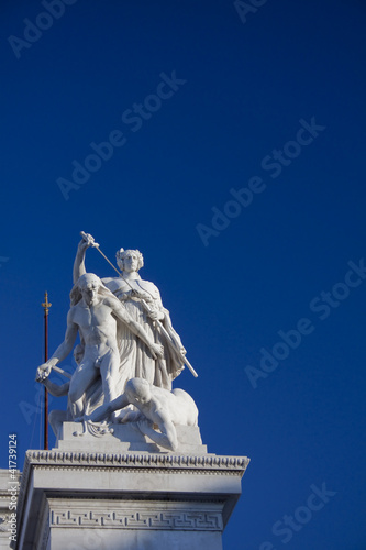 Statue with sword from the Vittoriano in Rome