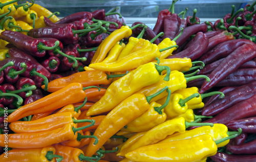 yellow red and orange peppers