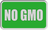 Sticker grün eckig rel NO GMO poster