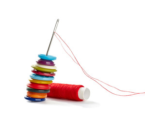 sewing needle and string tailor craft