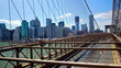 New York Manhattan skyline from the Brooklyn Bridge time lapse