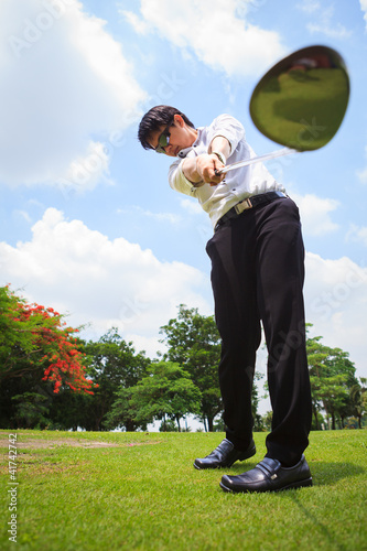Business man in golf player