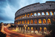 Leinwanddruck Bild - Coliseum at night. Rome - Italy