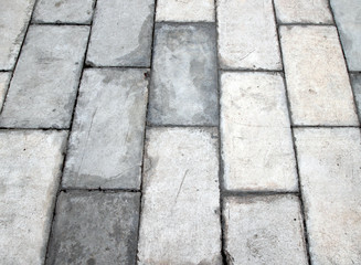 square brick tile walkway background