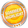 """Button Sonne """"Sommerhighlight"""" silber/orange"""