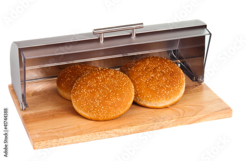 breadbasket buns with isolated