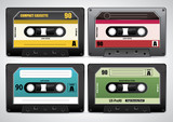 Collection of retro cassette tapes