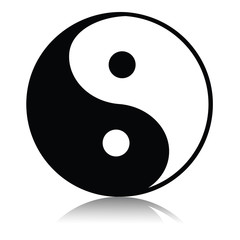 Yin yang noir et blanc