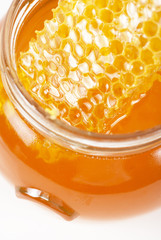 jar of organic honey