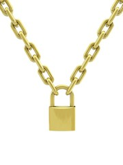 3d lock and chain.