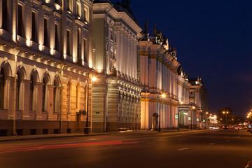 Вечерний фасад Эрмитажа