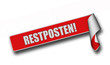 Band Sticker rot rore II RESTPOSTEN