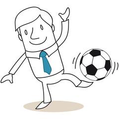 Geschäftsmann, Fußball 2