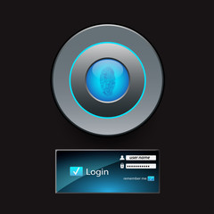 Vector login page. eps 10