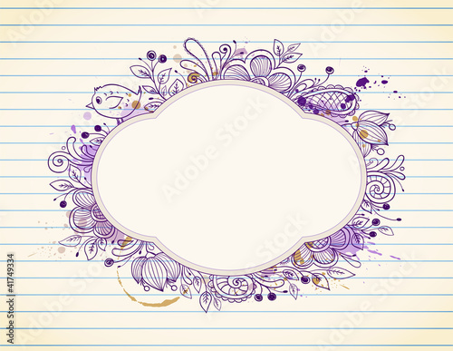 Hand drawn vector label