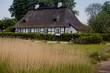 Reetdachhaus in Sieseby, Schleswig-Holstein,Deutschland