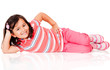 Cute girl on the floor