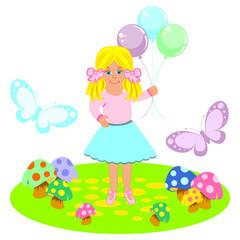 balon tutan kız