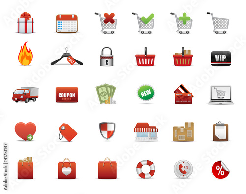 shopping vector icons set