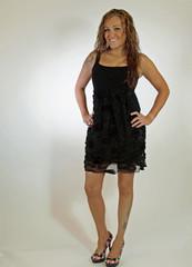 Model In A Black Dress