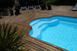 Closeup of private swimming pool