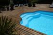Closeup of private swimming pool